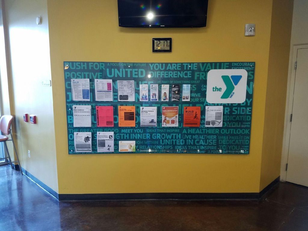 YMCA Posterboard Sign