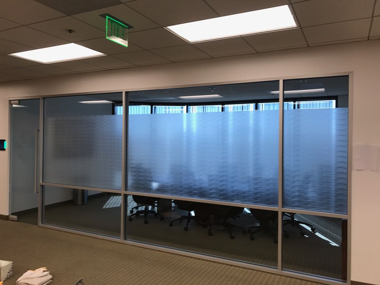 Office Frosted Glass Graphic