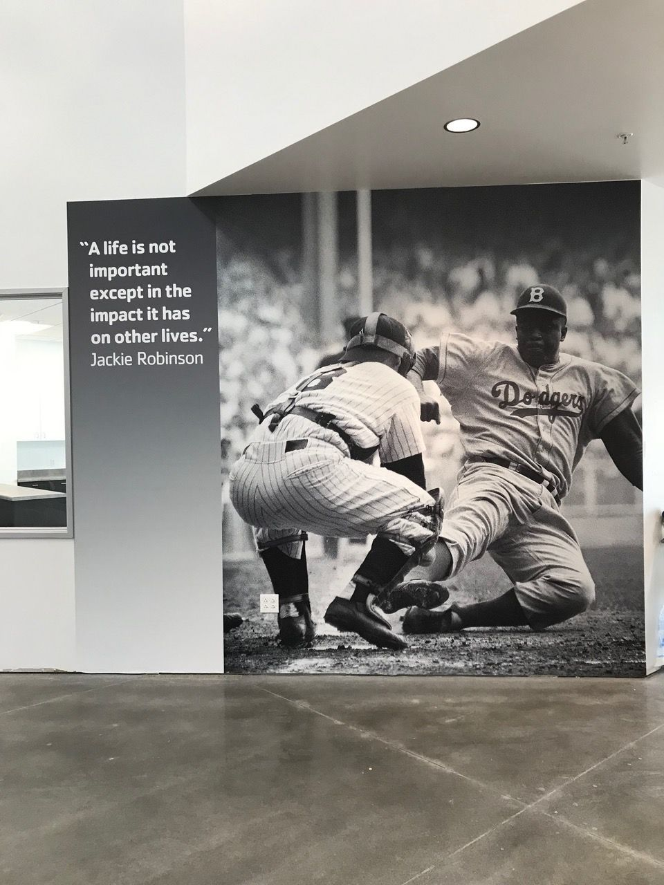 Jackie Robinson Quote and photo mural