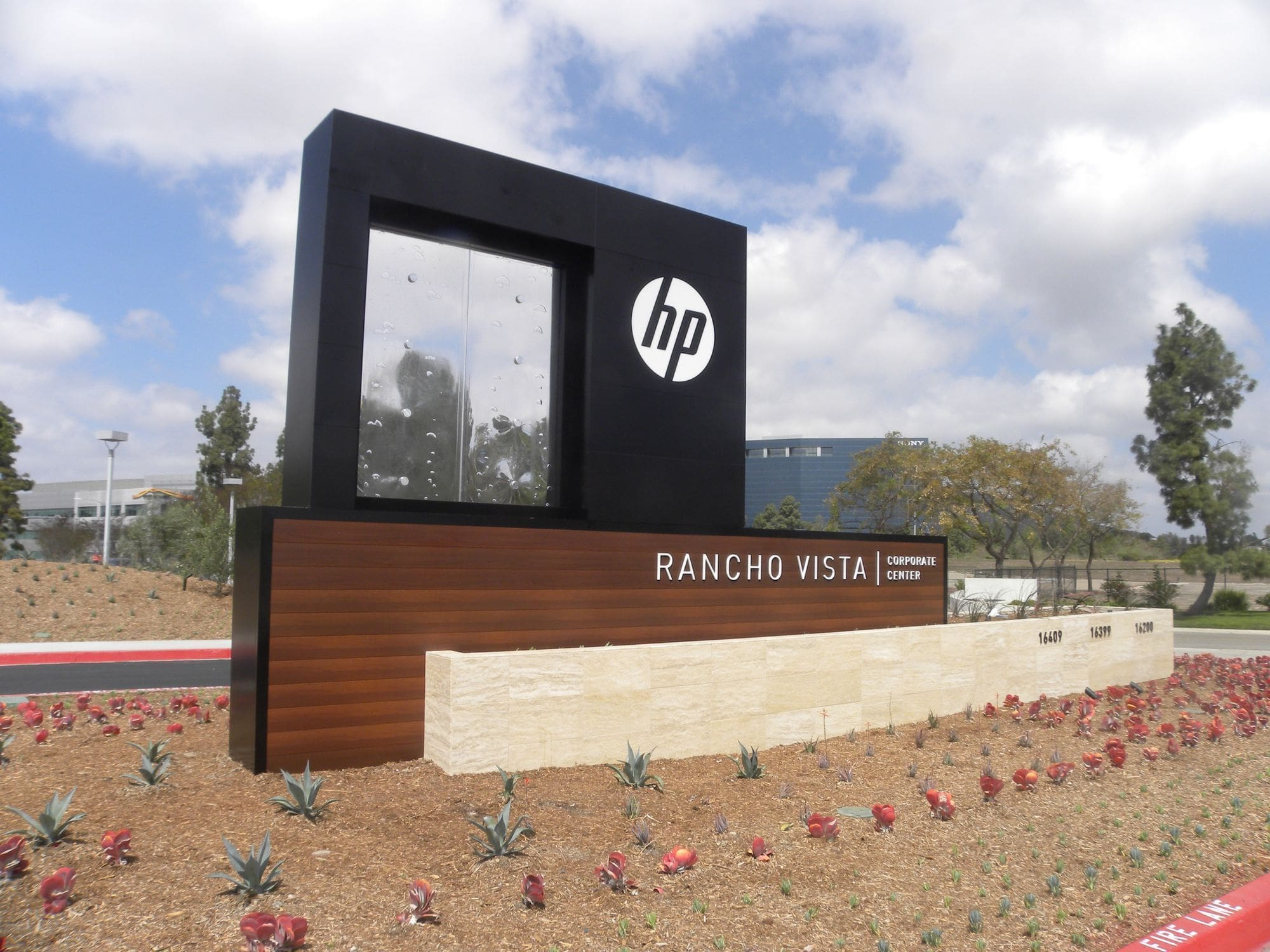 Hewlett Packard Corporate Campus Sign