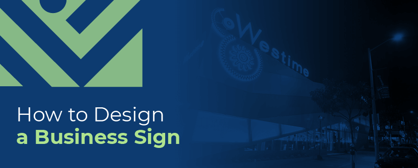 how to design a business sign