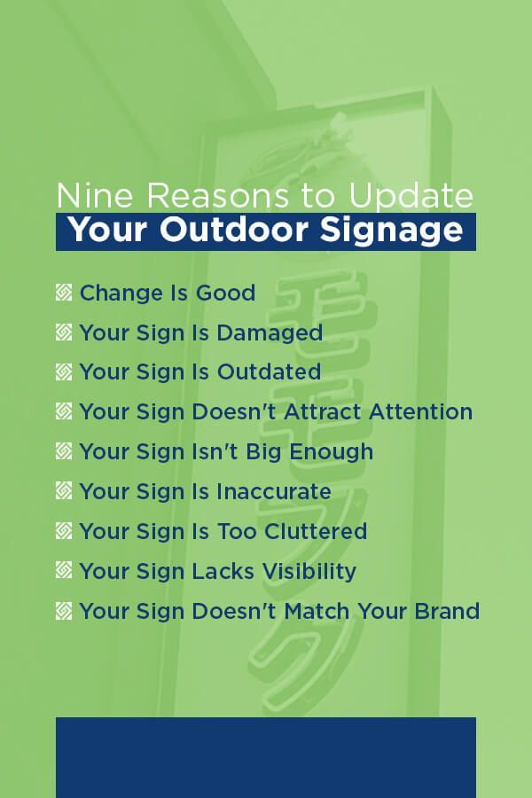 reasons to update your outdoor signage