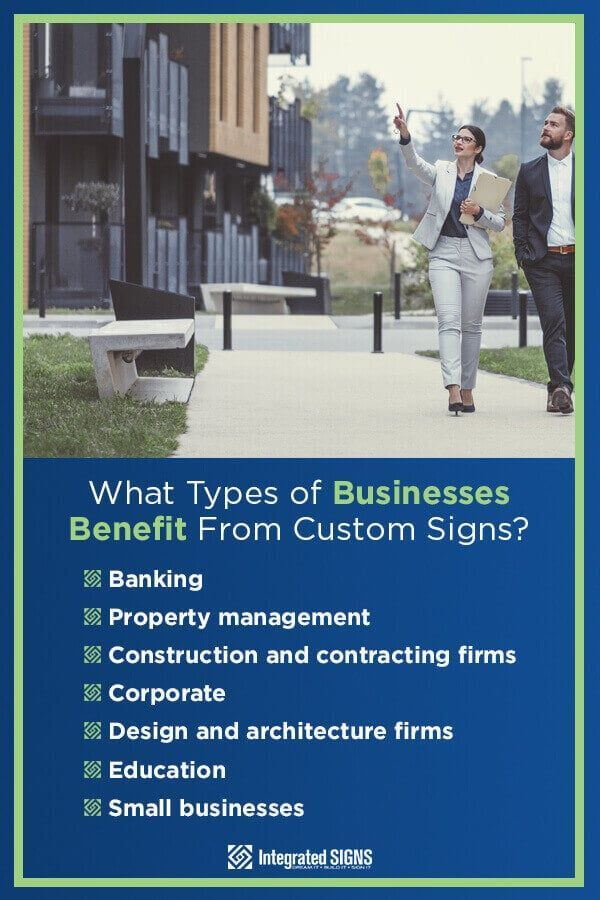 types of business that benefit from custom signs
