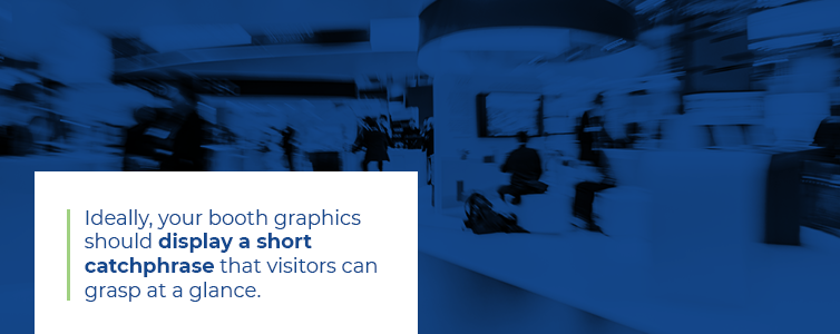 clear and concise trade show signs