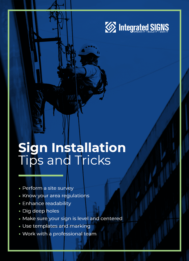 sign installation tips and tricks