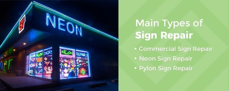 types of sign repair