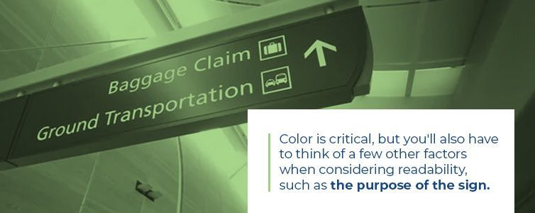 color is critical for sign readability