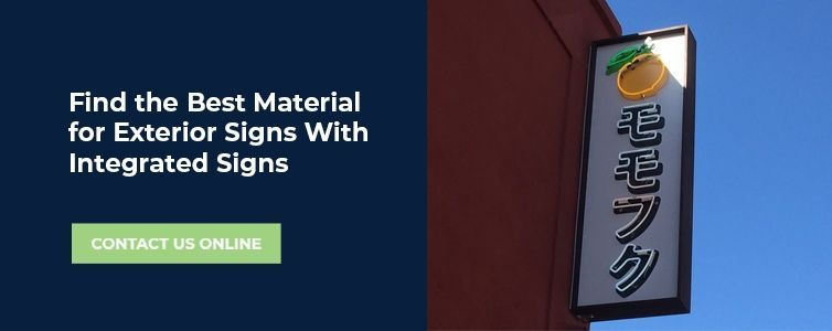 Integrated Sign Solutions for exterior signs