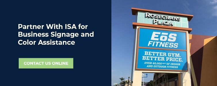 sign color assistance from ISA Signs