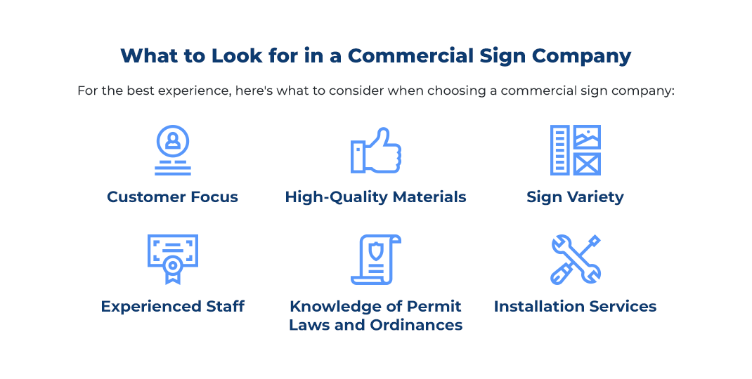 What to Look for in a Commercial Sign Company