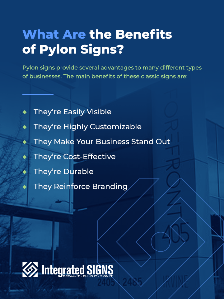 What Are the Benefits of Pylon Signs?